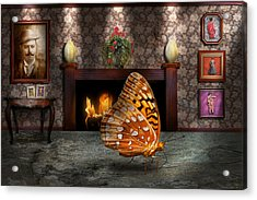 Animal - The Butterfly Acrylic Print by Mike Savad