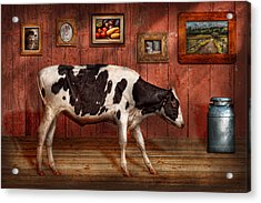 Animal - The Cow Acrylic Print by Mike Savad