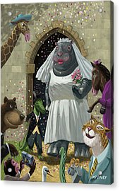 Animal Wedding Acrylic Print by Martin Davey