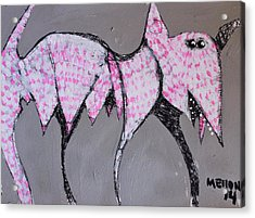 Animalia Canis With Pink Dots  Acrylic Print