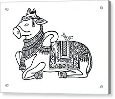 Animals Cow 2 Acrylic Print by Neeti Goswami
