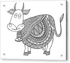 Animals Cow 3 Acrylic Print by Neeti Goswami
