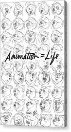 Animation  Life Acrylic Print by Aaron Blaise