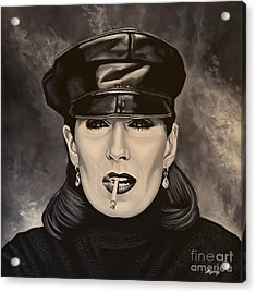 Anjelica Huston Acrylic Print by Paul Meijering