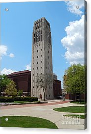 Ann Arbor Michigan Clock Tower Acrylic Print by Phil Perkins