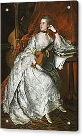 Ann Ford Later Mrs Philip Thicknesse, 1760 Oil On Canvas Acrylic Print by Thomas Gainsborough
