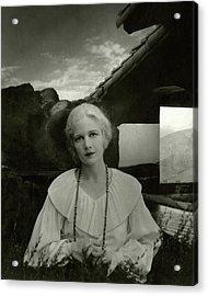 Ann Harding Wearing A Blouse Acrylic Print