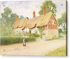 Ann Hathaway's Cottage Acrylic Print by Arthur Claude Strachan
