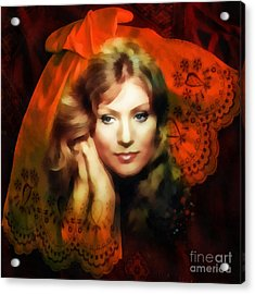 Anna German Acrylic Print by Mo T