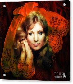 Anna German Acrylic Print by Mo T