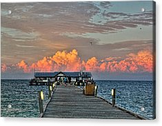 Anna Maria City Pier Acrylic Print by HH Photography of Florida