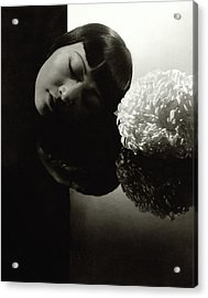 Anna May Wong Resting Her Head Acrylic Print by Edward Steichen
