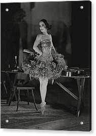 Anna Pavlova In Her Ballet Costume Acrylic Print by James Abb?