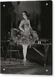 Anna Pavlova In Her Ballet Costume Acrylic Print