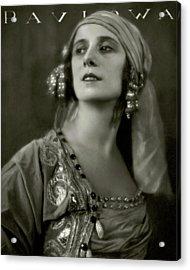 Anna Pavlova Wearing An Ornate Dress Acrylic Print