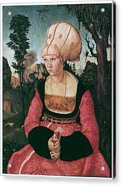 Anna Putsch First Wife Of Johannes Cuspinian Acrylic Print by Lucas Cranach the Elder