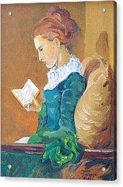 Anna Reading Acrylic Print by Janina  Suuronen