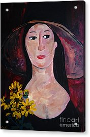 Acrylic Print featuring the painting Anna by Reina Resto