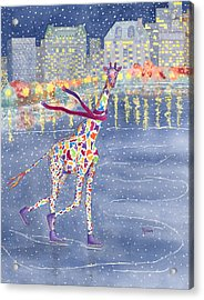 Annabelle On Ice Acrylic Print