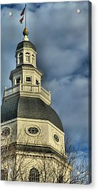 Annapolis Statehouse Acrylic Print by Jennifer Wheatley Wolf