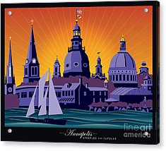 Annapolis Steeples And Cupolas Acrylic Print