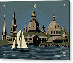 Annapolis Steeples And Cupolas Serenity Acrylic Print