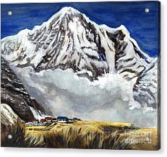 Annapurna L Mountain In Nepal Acrylic Print