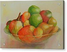 Anna's Fruit Bowl Acrylic Print by Dorothy Nalls