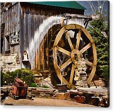 Acrylic Print featuring the photograph Anna's Garden Cafe by Greg Jackson