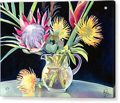 Anna's Protea Flowers Transparent Acrylic Print by Don Jusko