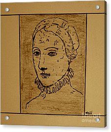 Acrylic Print featuring the drawing Anne by Bill OConnor