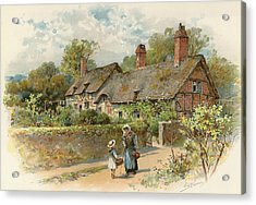 Anne Hathaway's Cottage At Shottery Acrylic Print by William Stephen Coleman
