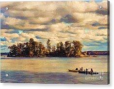 Anne Lacys Hamlin Lake Acrylic Print by Lianne Schneider and Anne Lacy