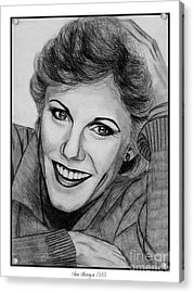 Anne Murray In 1983 Acrylic Print by J McCombie