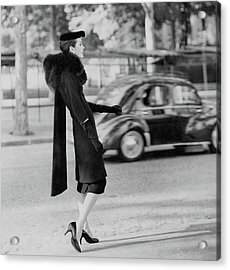 Anne St. Marie Standing In A Street Acrylic Print