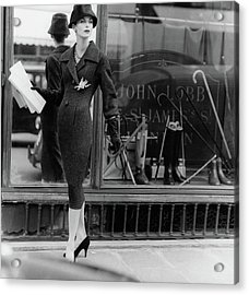 Anne St. Marie Wearing A Dior Coat Acrylic Print