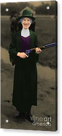 Annie Oakley 20130514 Long Acrylic Print by Wingsdomain Art and Photography