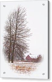 Annie's Barn Acrylic Print by Pamela Baker