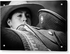 Acrylic Print featuring the photograph Annie's Saddle by Steven Bateson