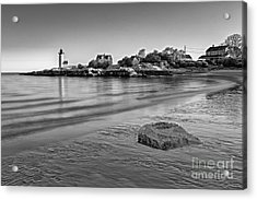 Annisquam Harbor Lighthouse Bw Acrylic Print by Susan Candelario