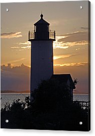 Annisquam Lighthouse Sunset Acrylic Print by Richard Bryce and Family