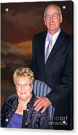Acrylic Print featuring the painting Anniversary Portrait by Tim Gilliland