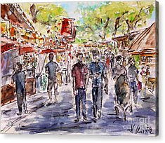 Acrylic Print featuring the painting annual fair II by Alfred Motzer