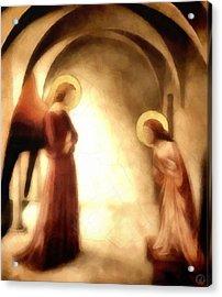 Annunciation Acrylic Print by Gun Legler