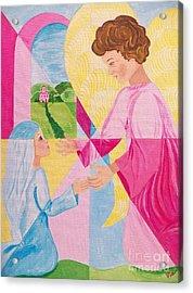 Annunciation Acrylic Print by Judy Via-Wolff