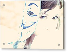 Anonymous Against Acta Acrylic Print by Beatrice Murch