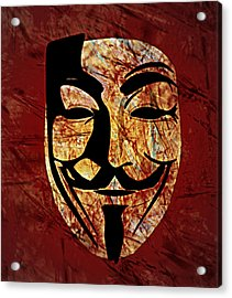 Anonymous Acrylic Print by Ally  White