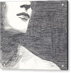 Acrylic Print featuring the drawing Anonymous Crop by Michele Engling