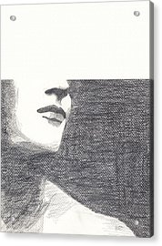 Acrylic Print featuring the drawing Anonymous by Michele Engling