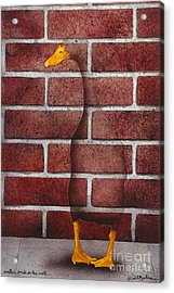 Another Brick In The Wall... Acrylic Print by Will Bullas